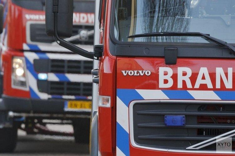 Grote schuurbrand bij boerderij in Wieringerwerf