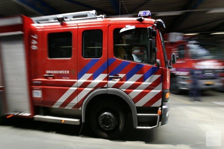 Camper in brand op A7 bij Wieringerwerf