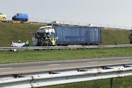 Ongeval met vrachtwagens op Afsluitdijk