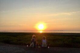 Avondwandeling met zonsondergang