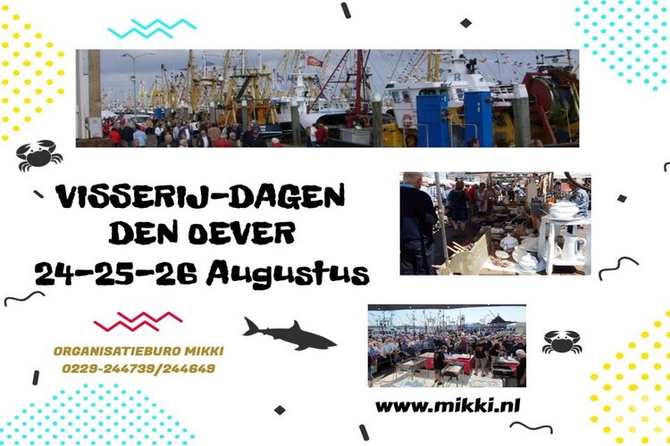 Flora en Visserijdagen Markt op 24 augustus