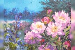 Workshop bloemen schilderen in de keesschuur op zaterdag 11 januari 2020
