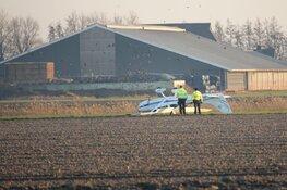 Onderzoek naar over de kop geslagen vliegtuigje in Middenmeer