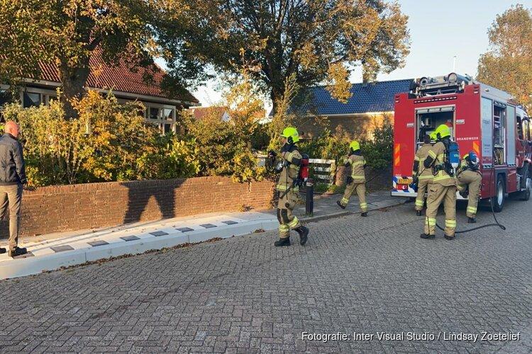 Brand in voormalig schoolgebouw Den Oever