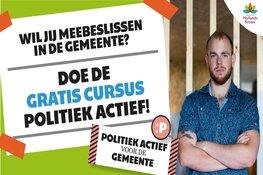 Gratis cursus Politiek Actief voor inwoners gemeente Hollands Kroon