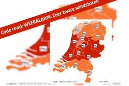 WEERALARM: Zeer zware windstoten