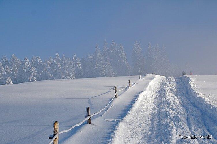 Morgen kans op paar centimeter sneeuw