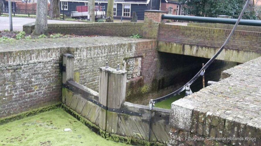 Renovatie sluisje Nieuwe Niedorp