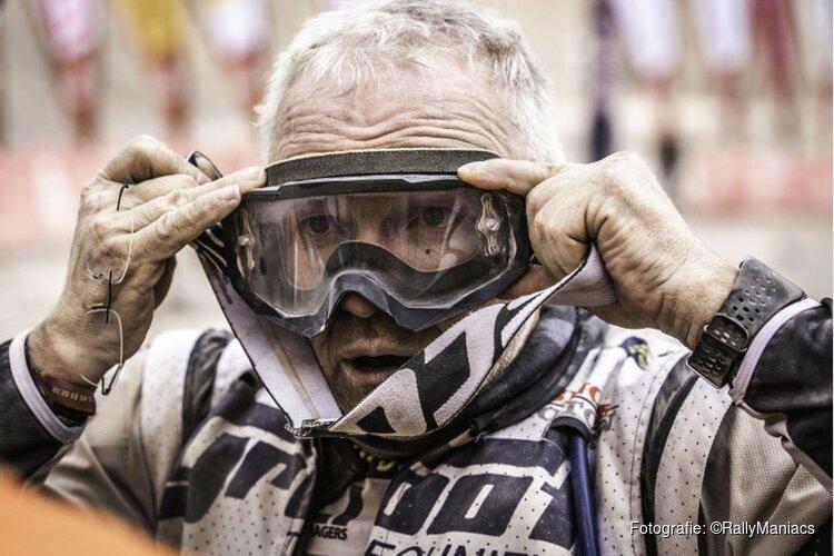Martien Jimmink toe aan de rustdag na weer een zware etappe